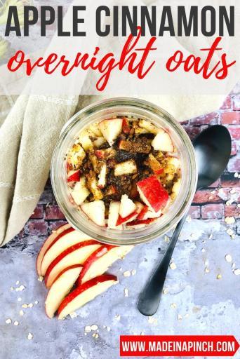 apple cinnamon overnight oats pin