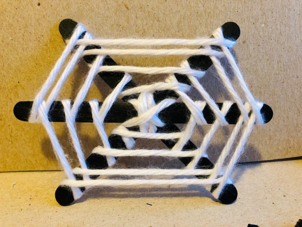 popsicle stick spiderweb craft