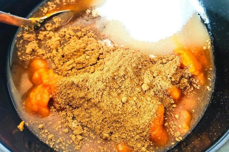 crock pot pumpkin butter process