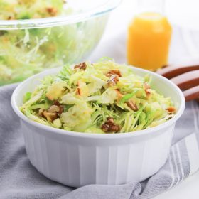 Shaved Brussels Sprouts salad with bacon