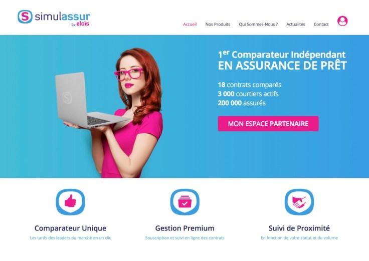Page accueil SIMULASSUR