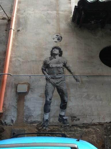 Maradona rues de Naples