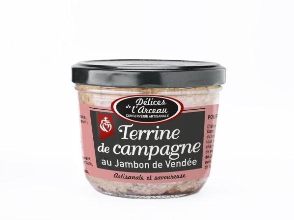 TERRINE DE CAMPAGNE AU JAMBON DE VENDEE 180G (1)