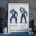 Affiches Epaulé Jeté Bleu