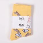 Label Chaussettes RATP Jaune 2