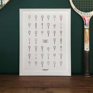 affiche memory tennis