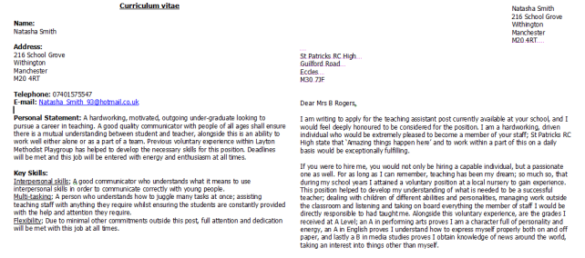 Quality Coursework Paper Writing cover letter for a teacher ...