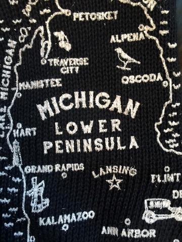 Michigan Oven Mitts Black