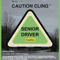 Senior Driver Caution Cling
