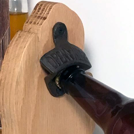 Solid Oak Michigan Bottle Opener
