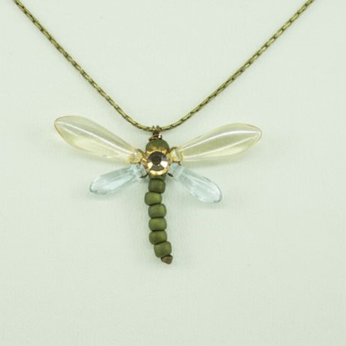 Champagne Baby Dragonfly Necklace