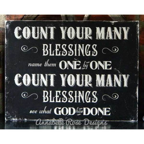Count Your Blessings Word Art Sign