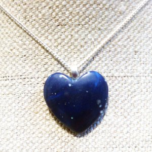Leland Blue Heart Necklace Heart of Lake Michigan Stone