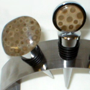Petoskey Stone Wine Stoppers