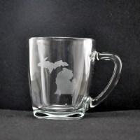 Laser Engraved Michigan Mug