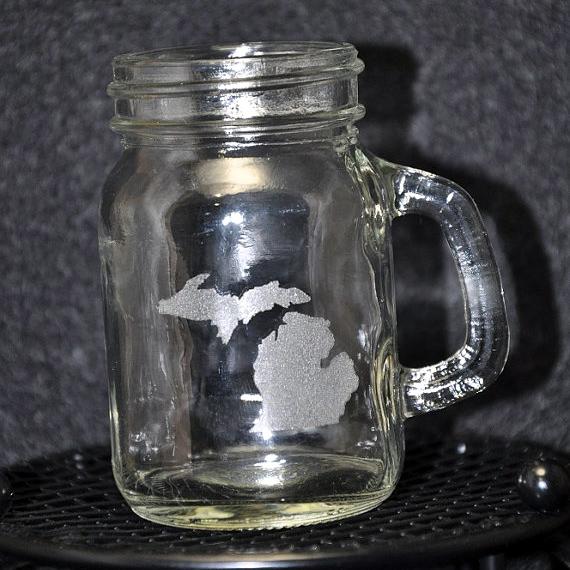 Laser Engraved Michigan Mini Mug
