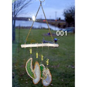 001 Agate Wind Chimes Strung On Lake Superior Driftwood