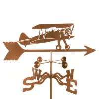 Airplane Bi Plane Weathervane