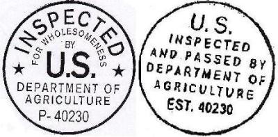 Pasties are USDA Certified