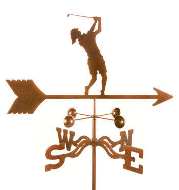 Golfer – Female Weathervane