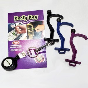 Kooty Key Germ Free Tool Carabiner and Badge Retractor Included