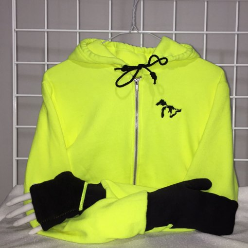 Neon Yellow with Black Turtle Gloves