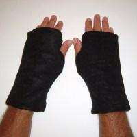 Coffee Reversible Fingerless Gloves