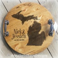 Personalized Michigan Tray