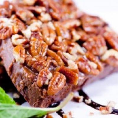 Chocolate Turtle Pecan Fudge