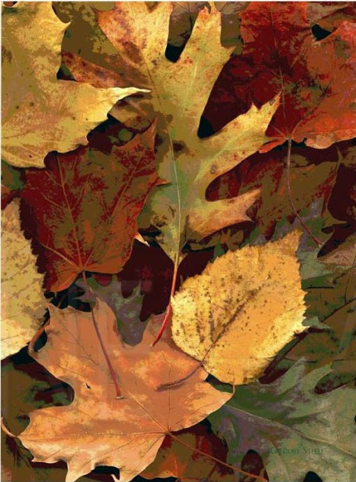 Vertical Fall Leaves Photo Cutting Board