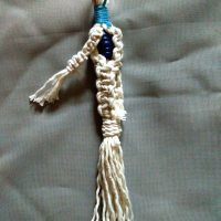 Sinnet Macrame Keychain with Hidden Wooden Bead