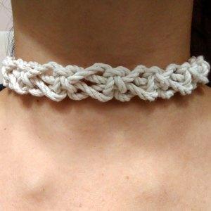 Switch Knot Macrame Choker Necklace