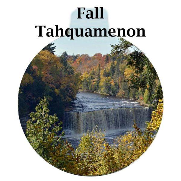 Metal Photo Ornament Fall Tahquamenon Falls