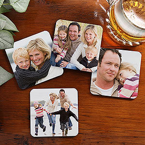 Square Custom Photo Coasters