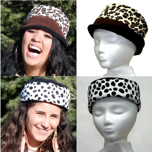 Cheetah Dalmatian Reversible Hat