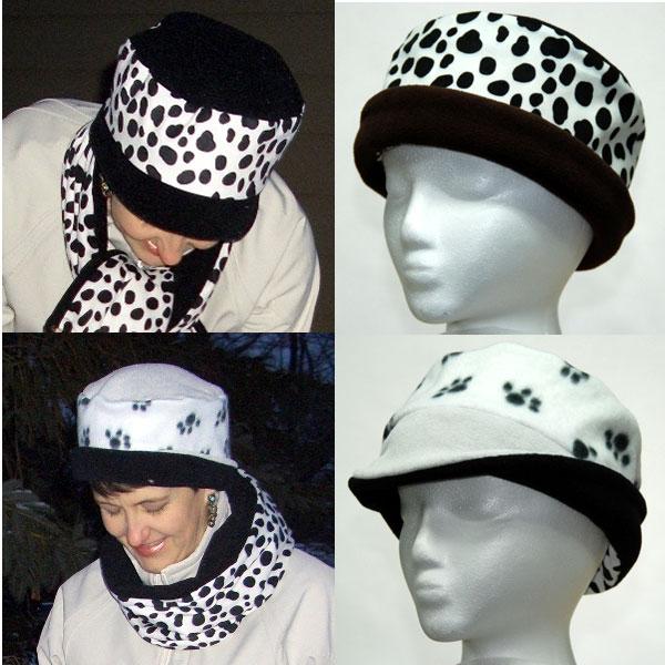 Puppy Paw Dalmatian Reversible Hat
