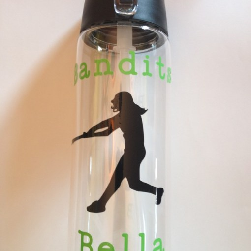 Personalized Water Bottle Text and Image