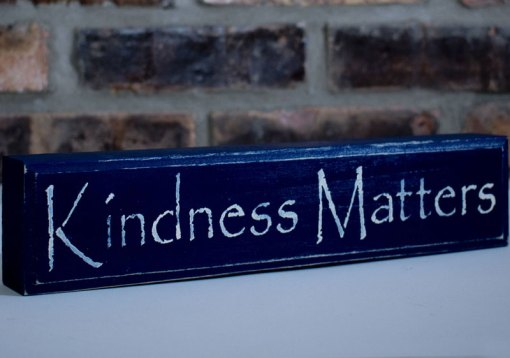Navy Kindness Matters Sign