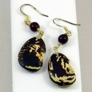 Christmas Lima Bean Earrings