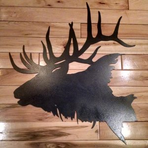 Metal Elk Head Silhouette