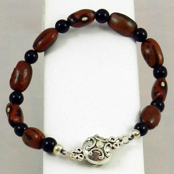 Hopi Purple String Bean Bracelet