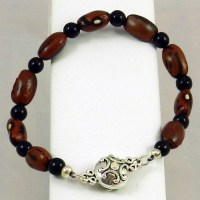 Hopi Purple String Bean Bracelet