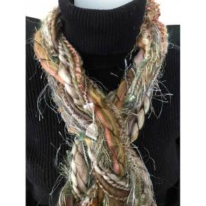 33 Natural Braided Scarf Ribbon Yarn Braided Scarves