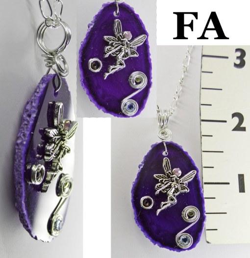Purple Agate Pixie Necklace