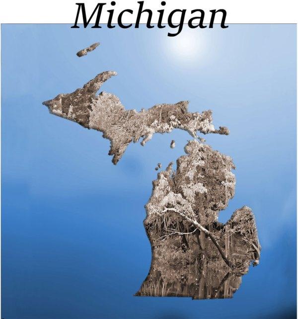 Michigan blue sky