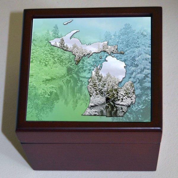 Photo Keepsake Box Michigan Photo Tiles