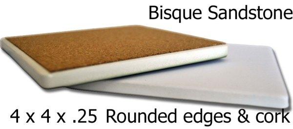 Sandstone Photo Coaster BAck
