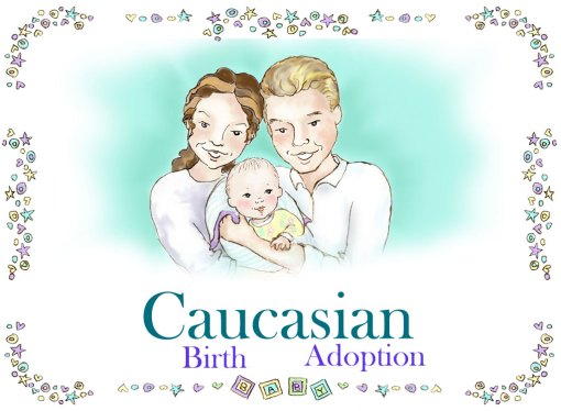 Personalized Caucasian Family Book