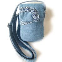 Denim Braids Beads Purse