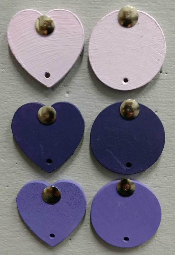 Celebration Board Discs Lilac, Purple, Dark Purple
